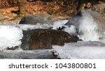 frozen ice on the river | Shutterstock . vector #1043800801