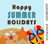 summer time vector banner... | Shutterstock .eps vector #1043804059