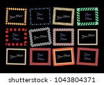 photo frames border design... | Shutterstock .eps vector #1043804371