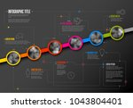 vector infographic company... | Shutterstock .eps vector #1043804401