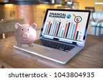 financial planning retirement... | Shutterstock . vector #1043804935