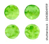 vector green watercolor circle... | Shutterstock .eps vector #1043804959
