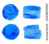 vector blue sea  labels and... | Shutterstock .eps vector #1043804965