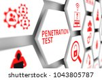 penetration testconcept cell... | Shutterstock . vector #1043805787
