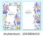 vector botanical banners with... | Shutterstock .eps vector #1043806414
