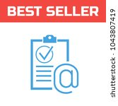 marked checklist icon. check...   Shutterstock .eps vector #1043807419