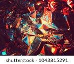 holographic color wrinkled foil.... | Shutterstock . vector #1043815291
