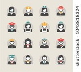 business people avatar icons | Shutterstock .eps vector #1043818324