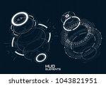 hud futuristic element. hi tech ... | Shutterstock .eps vector #1043821951