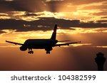Passenger Aircraft Landing Wit...