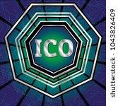 ico and token conceptual design ... | Shutterstock .eps vector #1043826409