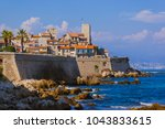 seascape of antibes in provence ... | Shutterstock . vector #1043833615