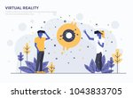 modern flat design people and... | Shutterstock .eps vector #1043833705