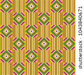 ghana kente fabric. african... | Shutterstock .eps vector #1043840671