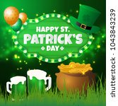 happy st.patrick's day greeting ... | Shutterstock .eps vector #1043843239