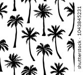 vector seamless pattern with... | Shutterstock .eps vector #1043845231