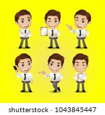 men with different poses | Shutterstock .eps vector #1043845447