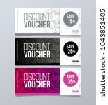 gift voucher template design... | Shutterstock .eps vector #1043851405