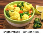 traditional indian cuisine.... | Shutterstock . vector #1043854201