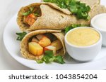 traditional indian cuisine.... | Shutterstock . vector #1043854204