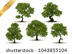 collection  beautiful tree... | Shutterstock .eps vector #1043855104