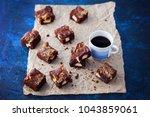 halva brownie with tahini and... | Shutterstock . vector #1043859061