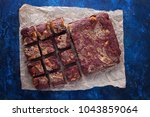 halva brownie with tahini and... | Shutterstock . vector #1043859064