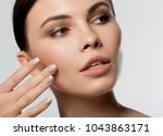 close up of female pretty face. ...   Shutterstock . vector #1043863171