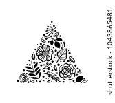 flower triangle shape pattern.... | Shutterstock .eps vector #1043865481