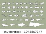 sea life vector design... | Shutterstock .eps vector #1043867347