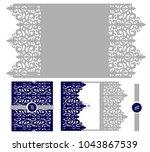 wedding elegant invitation card ... | Shutterstock .eps vector #1043867539