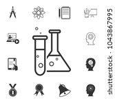 test tube icon. detailed set of ... | Shutterstock .eps vector #1043867995