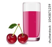 glass of refreshing delicious... | Shutterstock .eps vector #1043871259