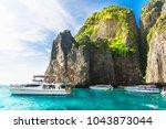landscape of phi phi island... | Shutterstock . vector #1043873044