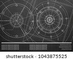 vector mechanical engineering... | Shutterstock .eps vector #1043875525