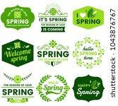 spring retro vintage vector... | Shutterstock .eps vector #1043876767