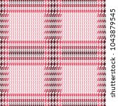 check fashion tweed white  pink ... | Shutterstock .eps vector #1043879545