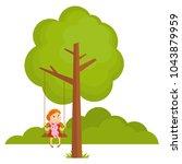 tree landscape forest vector... | Shutterstock .eps vector #1043879959