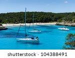 charter boat anchorage at cala...