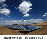 solar power plant with blue sky ... | Shutterstock . vector #1043888605