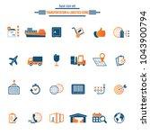 logistics service icon set....   Shutterstock .eps vector #1043900794
