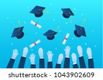 concept of education. graduates ... | Shutterstock .eps vector #1043902609