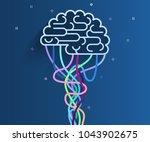concept of artificial... | Shutterstock .eps vector #1043902675