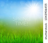 spring background with white... | Shutterstock .eps vector #1043906455