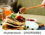 process of preparing sweet... | Shutterstock . vector #1043906881