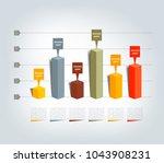graph  chart  3d. infographics. | Shutterstock .eps vector #1043908231