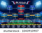 russia 2018 world cup football... | Shutterstock .eps vector #1043910907