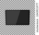 realistic modern  blank screen... | Shutterstock .eps vector #1043921977