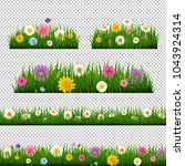 grass and border collection... | Shutterstock .eps vector #1043924314
