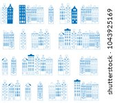 vector seamless pattern with ... | Shutterstock .eps vector #1043925169